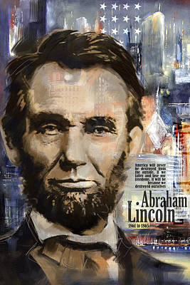 Politicians Paintings - Abraham Lincoln by Corporate Art Task Force