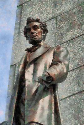 Lincoln Memorial Mixed Media - Abraham Lincoln by Dan Sproul