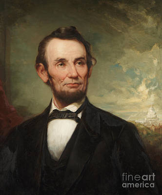 President Lincoln Painting - Abraham Lincoln  by George Henry Story