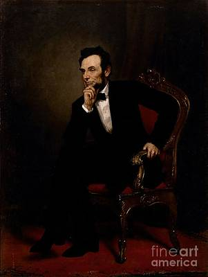 Healy Painting - Abraham Lincoln by GPA Healy