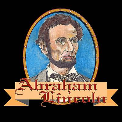 Abraham Lincoln Graphic Art Print by John Keaton