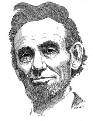 Ink Drawing Drawing - Abraham Lincoln by Jack Puglisi
