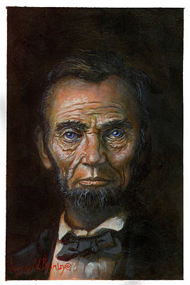Painting - Abraham Lincoln by Jeff Brimley