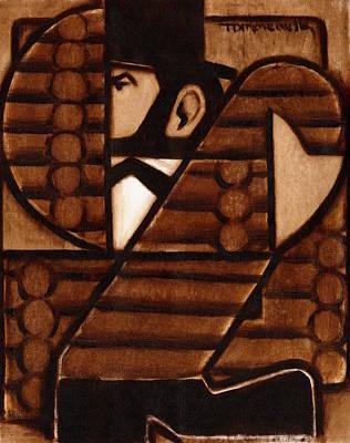 Painting - Tommervik Abraham Lincoln Log Cabin Art Print by Tommervik