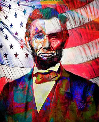 Politicians Digital Art - Abraham Lincoln by Mal Bray