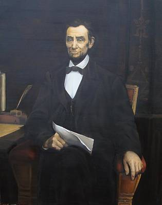 Replica Painting - Abraham Lincoln by Nathalie Ando