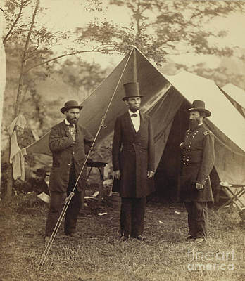 Photograph - Abraham Lincoln Near Antietam 1862 by Getty Research Institute