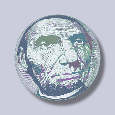 Painting - Abraham Lincoln Orb by Tony Rubino