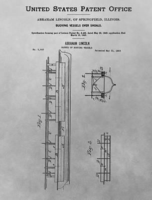 Politicians Royalty-Free and Rights-Managed Images - Abraham Lincoln Patent Drawing by Dan Sproul