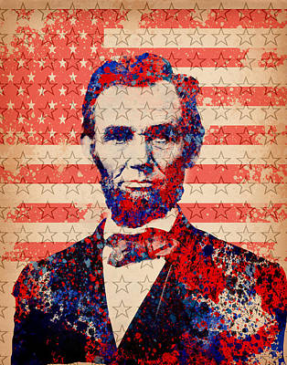 Civil Painting - Abraham Lincoln Pop Art 2 by Bekim Art