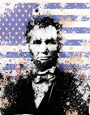 Abraham Lincoln Pop Art Splats Art Print