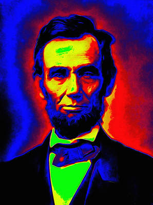 Abraham Lincoln Color Digital Art - Abraham Lincoln Pop Art by Steve K