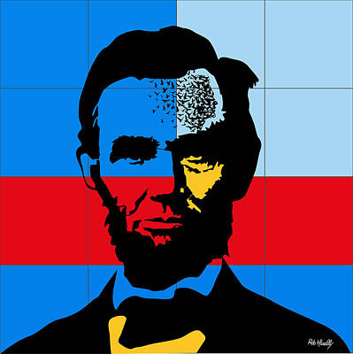 The Economy Digital Art - Abraham Lincoln by Roby Marelly