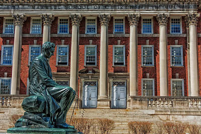 Syracuse University Photograph - Abraham Lincoln Statue - Syracuse University by Mountain Dreams