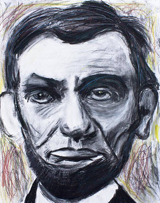 Emancipation Proclamation Drawing - Abraham Lincoln The 16th President  by Don Lee