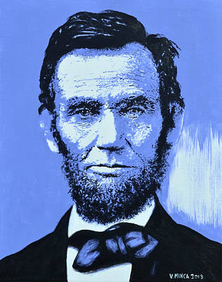 Abraham Lincoln Art Print by Victor Minca