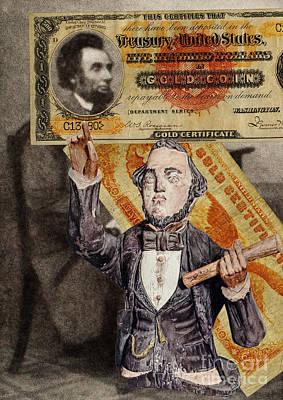 Historical Speech Digital Art - Abraham Lincoln by Vincent Monozlay