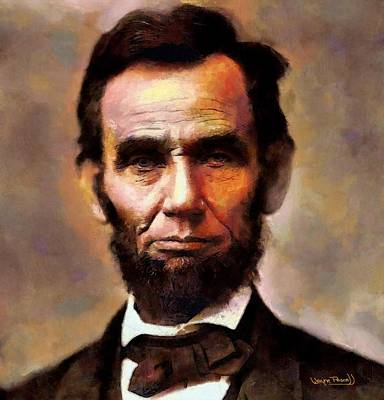 Abraham Lincoln Art Print by Wayne Pascall
