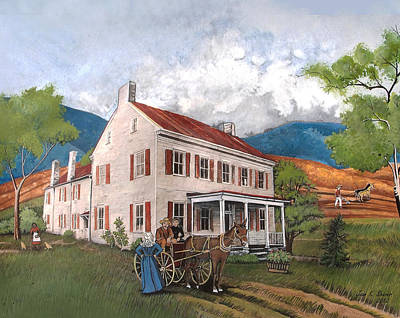 Abraham Lincoln's Ancesteral Home Art Print by Joan Shaver