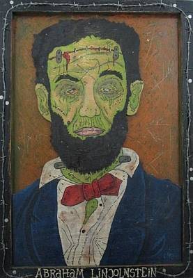 Folk Art Lincoln Painting - Abraham Lincolnstein by Eric Cunningham