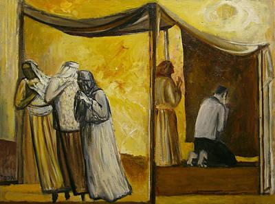 Woman Praying Painting - Abraham Praying by Richard Mcbee