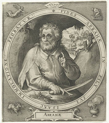 Abraham With Knife In Hand, Nicolaes De Bruyn Art Print