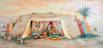 Abraham's Tent Art Print by Michoel Muchnik