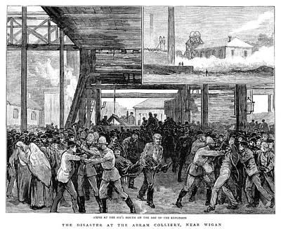 Abram Colliery Disaster Art Print