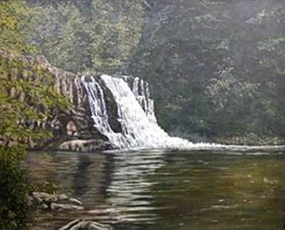 Smokey Mountains Painting - Abram's Falls by Gerry Furgason