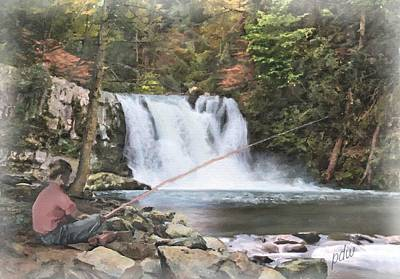Grist Mill Mixed Media - Abrams Falls by Philip White