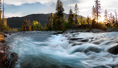 Photograph - Absaroka Cascade by Leland D Howard