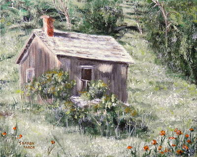 Painting - Absarokee Cabin by Sharon Tabor