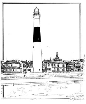 Absecon Lighthouse Original by Ira Shander