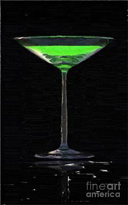 Bohemia Painting - Absinth In The Glass by Aleksey Tugolukov