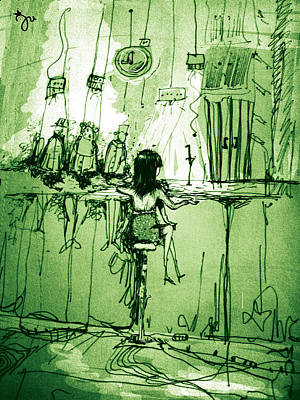 Absinthe Bar Art Print by J-Star Wind