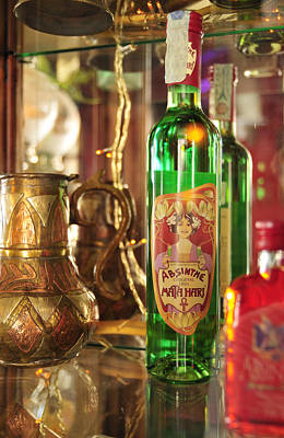 Photograph - Absinthe Bottle In Bar by Matthias Hauser