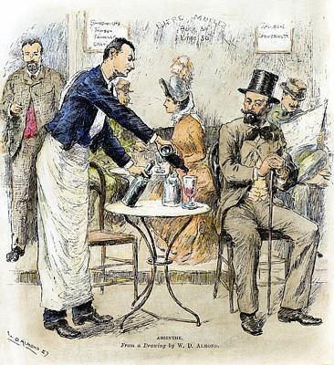 Belle Epoque Drawing - Absinthe Drinker, 1887 by Granger