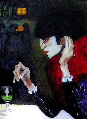 Painting - Absinthe Drinker After Picasso by Katy Hawk