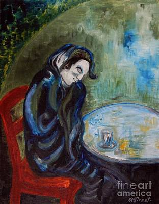 Addict Painting - Absinthe Drinker After Picasso by Caroline Street