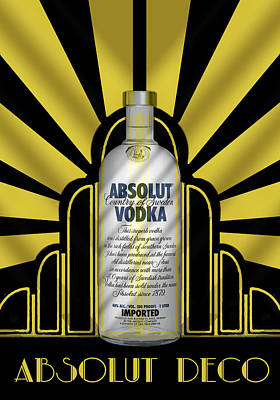 Digital Art - Absolut Deco by Chuck Staley