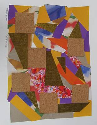 Abstract Collage Drawing - Absract No 8 by Paul Meinerth
