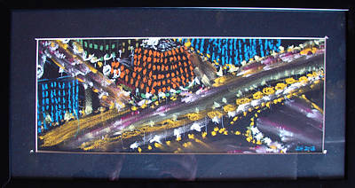 Art Print featuring the drawing Absrtract Traffic by Joseph Hawkins