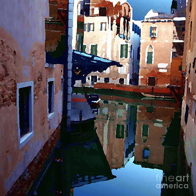 Photograph - Abstract - Quiet Corner Of Venice by Jacqueline M Lewis