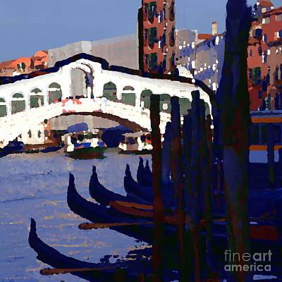 Photograph - Abstract - Rialto Bridge by Jacqueline M Lewis