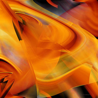 Digital Art - Abstract - That Golden Flow by rd Erickson