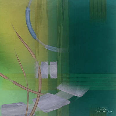 Green Abstracts Drawing - Abstract 03 I by Joost Hogervorst