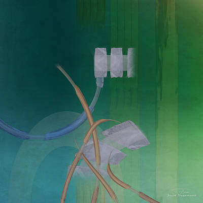 Green Abstracts Drawing - Abstract 03 II by Joost Hogervorst