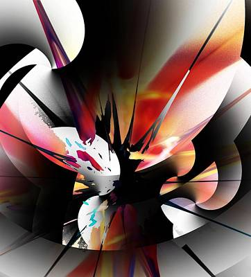 Print featuring the digital art Abstract 082214 by David Lane