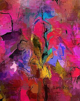Comic Character Paintings - Abstract 082313-1 by David Lane