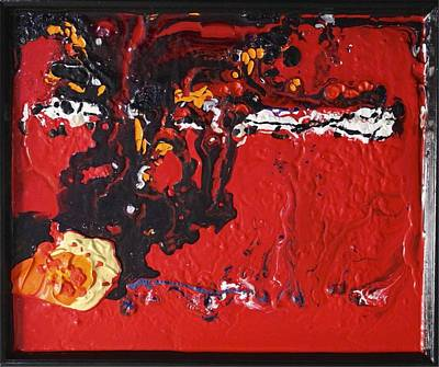 Painting - Abstract 13 - Dragons by Mario MJ Perron